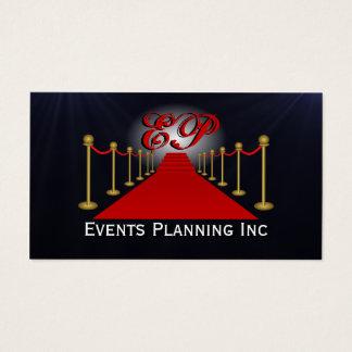 Tarjetas de visita del planificador de