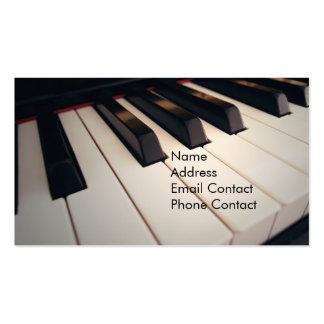 Tarjetas de visita del profesor de piano
