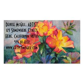 Tarjetas de visita del rosa de té