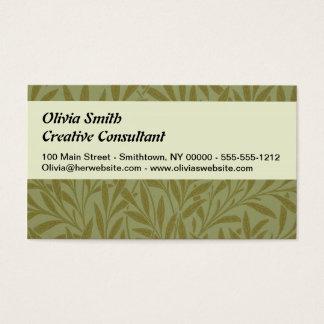 Tarjetas de visita del sauce de William Morris