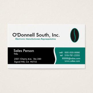 Tarjetas de visita del sur de O'Donnell