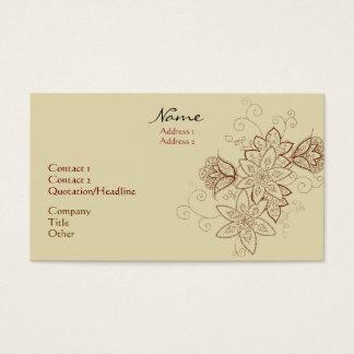 Tarjetas de visita del tatuaje del tulipán (arena)