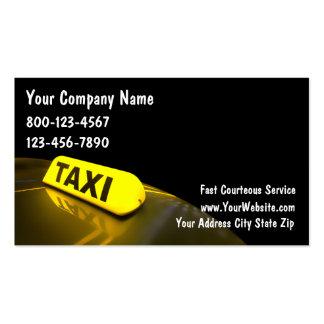 Tarjetas de visita para taxistas