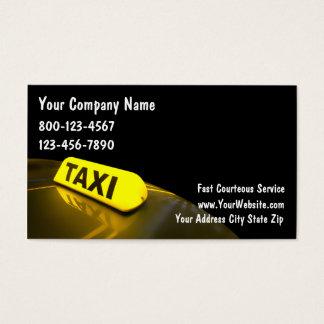 Tarjetas de visita del taxi