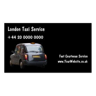 Tarjetas de visita del taxi de Londres