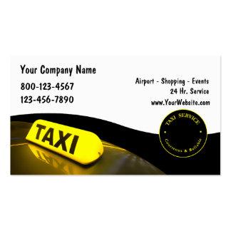 Tarjetas de visita del taxi nuevas
