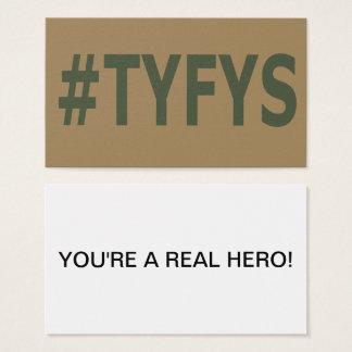 Tarjetas de visita del #TYFYS