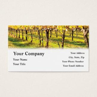 Tarjetas de visita del viñedo del restaurante del