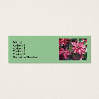 Tarjetas de visita delgadas del Poinsettia