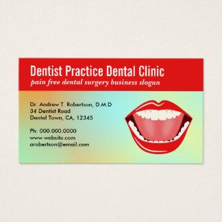 Tarjetas de visita dentales de la cita de la