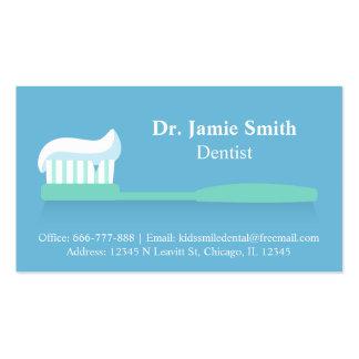 Tarjetas de visita dentales del cepillo de dientes
