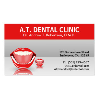 Tarjetas de visita dentales grises de la cita de
