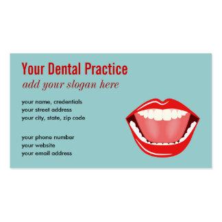 Tarjetas de visita dentales profesionales azules