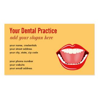 Tarjetas de visita dentales profesionales del oro