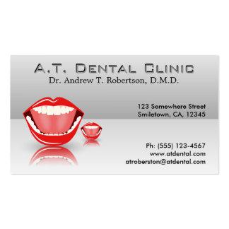 Tarjetas de visita dentales profesionales grises