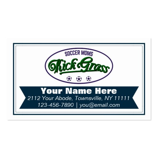 Tarjetas de visita divertidas de Kickgrass de las