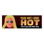Tarjetas de visita divertidas de la HVAC