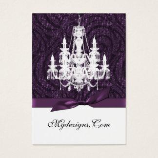 tarjetas de visita elegantes de la lámpara púrpura
