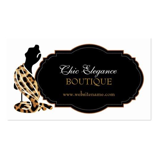 Tarjetas de visita elegantes de moda