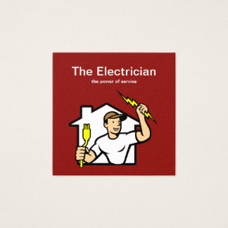 Tarjetas de visita elegantes del electricista