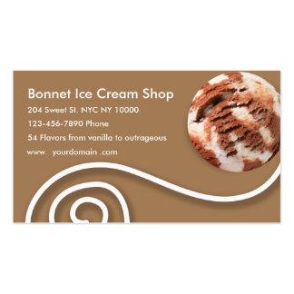 Tarjetas de visita elegantes del helado