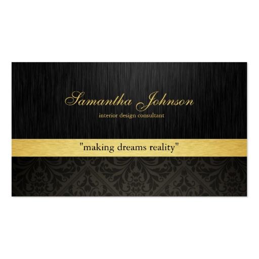 Elegantes Tarjetas de Visita, tarjetas de perfil y Elegantes