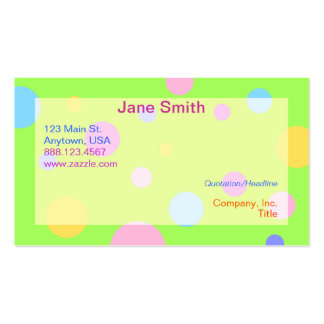 Tarjetas de visita en colores pastel de la polca