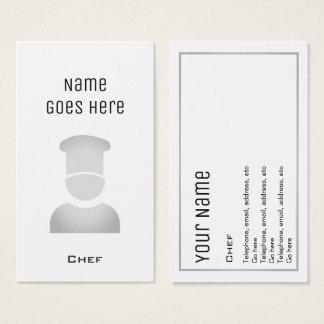 """Tarjetas de visita """"esenciales"""" del cocinero"""