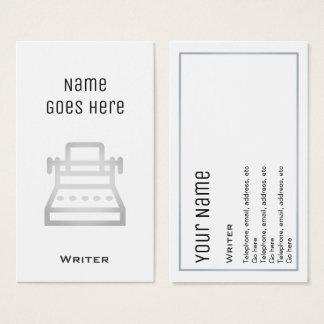 """Tarjetas de visita """"esenciales"""" del escritor"""