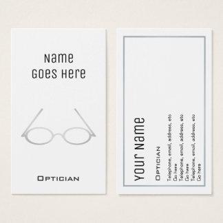 """Tarjetas de visita """"esenciales"""" del óptico"""