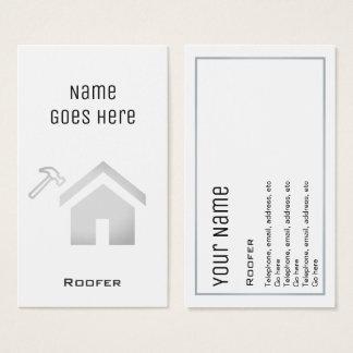 """Tarjetas de visita """"esenciales"""" del Roofer"""