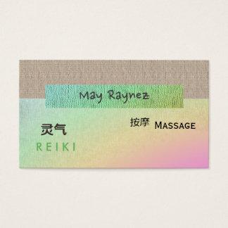 Tarjetas de visita espirituales de Reiki del