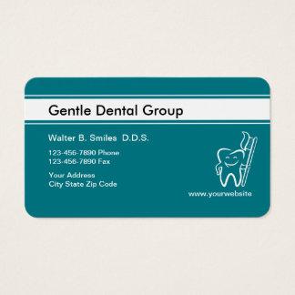 Tarjetas de visita felices del dentista