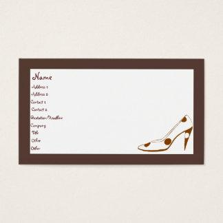 Tarjetas de visita femeninas elegantes de moda