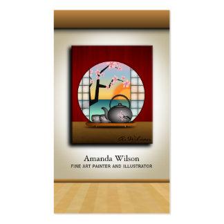 Tarjetas de visita finas del pintor o del