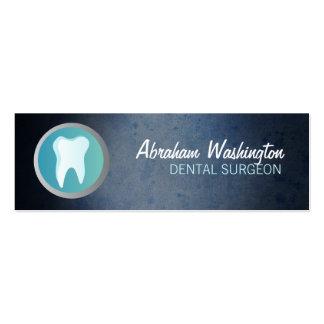 Tarjetas de visita flacas del cirujano dental