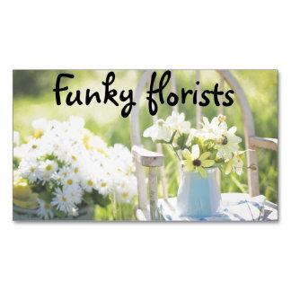 Tarjetas de visita florales