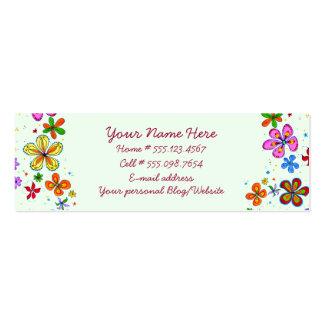 Tarjetas de visita florales del ejemplo