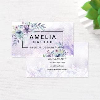 Tarjeta De Visita Tarjetas de visita florales femeninas de la