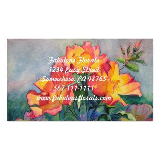 Tarjetas de visita florales para los jardineros o