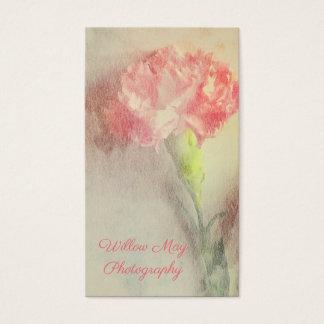 Tarjetas de visita francesas del clavel floral de