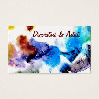 Tarjetas de visita frescas coloridas de las
