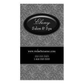 Tarjetas de visita grises del salón elegante del