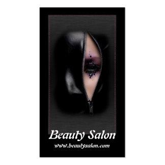 Tarjetas de visita hermosas del salón de belleza d