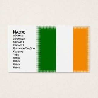 Tarjetas de visita irlandesas únicas del diseño de