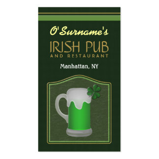 Tarjetas de visita irlandesas verdes de la oferta