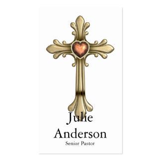 Tarjetas de visita Jeweled de oro de la cruz D1 (2