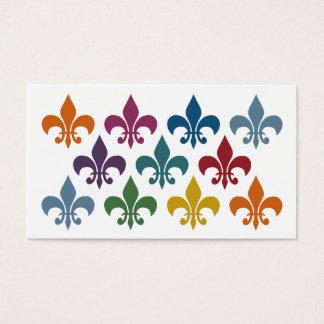 Tarjetas de visita lindas de la flor de lis