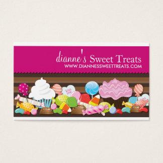 Tarjetas de visita lindas y dulces de los dulces