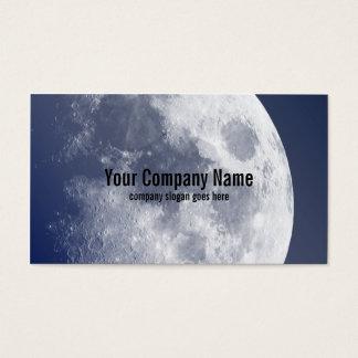 Tarjetas de visita lunares de la luna azul